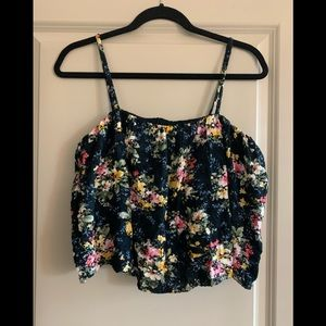 NWOT American Eagle Floral Crop Top Size S